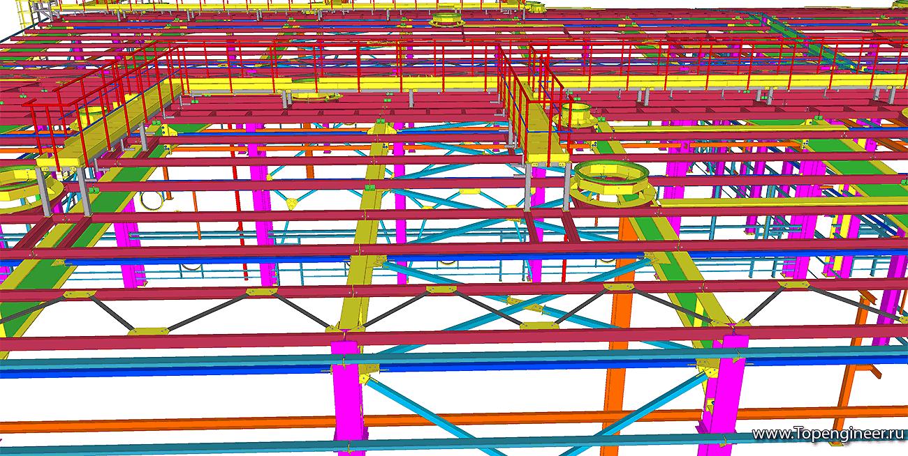 расчетная схема панельного дома в scad