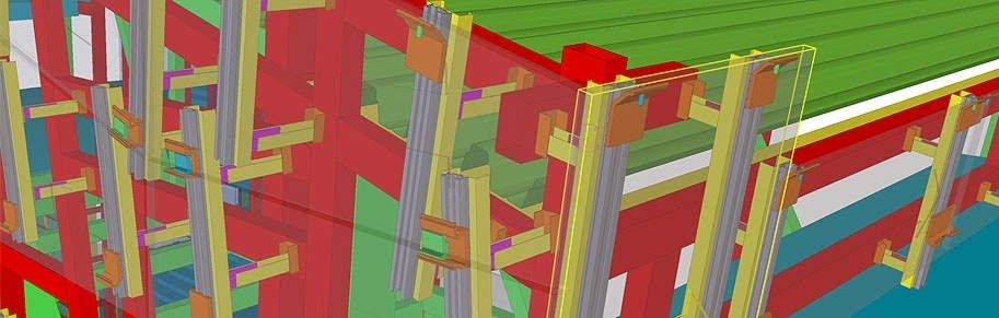 Трехмерная модель вентилируемого фасада.