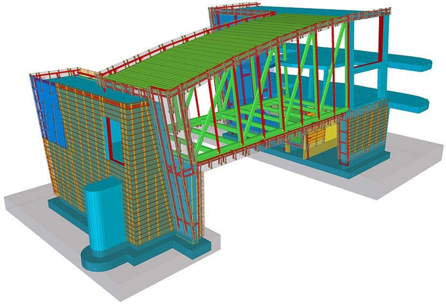 Конструкции металлические вентилируемого фасада. Перспектива.